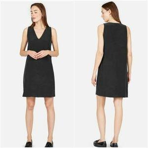 Everlane The Double-Lined Silk V-Neck Dress